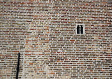 The smallest gothic window in Bruges Stock Images