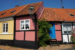 The smallest house on Bornholm, Ronne, Denmark Stock Images