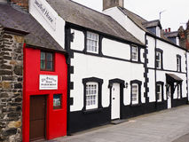 The Smallest House in Great Britain. Formerly a fishermans cottage. Conway, Wales, UK Stock Images