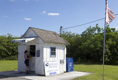 Smallest Post Office of the United States 2. Even it's the smallest post office of the united states you can still buy there stamps and post cards Stock Photography