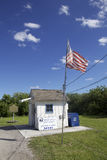 Smallest Post Office of the United States. This little cabin is the smallest post office of the united states and still open Stock Photos