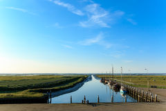 Smallest sea harbor Netherlands, Noordpolderzijl Royalty Free Stock Images