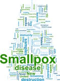 Smallpox word cloud. Word cloud concept illustration of  smallpox virus Stock Photography