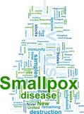 Smallpox word cloud Stock Photography