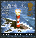 Smalls Lighthouse UK Postage Stamp Stock Photo