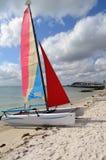 SmallSailing Catamaran Royalty Free Stock Photos