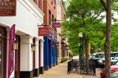 Smalltown sidewalk Stock Photos