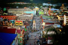 Smalltown. Small town , Betong Royalty Free Stock Images