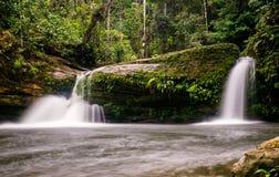 Smallwaterfall bei Fin Del Mundo Waterfall in Mocoa, Kolumbien stockfotografie