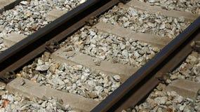 Smalt järnvägspår Royaltyfri Fotografi