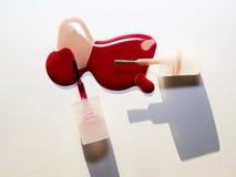 Smalto di chiodo colorato doppio Fotografie Stock Libere da Diritti