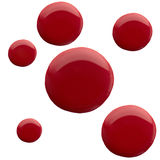 Smalto per unghie di forma dell'estratto di colore rosso Immagini Stock