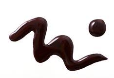Smalto per unghie porpora scuro di forma dell'estratto di colore Immagine Stock