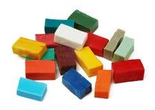 Smalttegels van verschillende kleuren Royalty-vrije Stock Fotografie