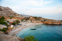 Smaragd bay in Calanques natural park, France Royalty Free Stock Image