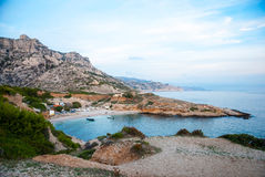 Smaragd bay in Calanques natural park, France Royalty Free Stock Photo