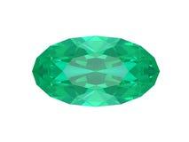 Smaragd die op witte achtergrond wordt geïsoleerdr Royalty-vrije Stock Afbeeldingen