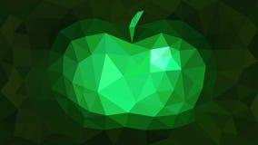 Smaragd för äpple för trianguleringbakgrundsabstrakt begrepp Royaltyfria Bilder