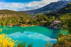 Smaragd-Green River Wasser Lizenzfreies Stockfoto