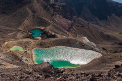 Smaragd Lakes, Tongariro nationalpark arkivfoton