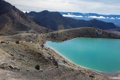 Smaragd sjöar av Tongariro den alpina korsningen Royaltyfria Bilder