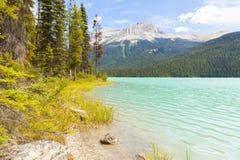 Smaragd sjön Yoho National parkerar Kanada Royaltyfria Foton