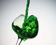 Smaragdfärgstänk Arkivbilder