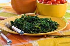 Smaragdgrün-Wirsingkohl Lizenzfreie Stockfotos