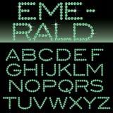 Smaragdgroen alfabet vector illustratie