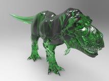 Smaragdgroen de dinosaurusbeeldje van de gemsteen T -t-rex Stock Foto's