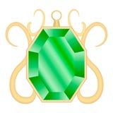Smaragdgroen halfedelsteenmodel, realistische stijl Royalty-vrije Stock Foto