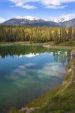 Smaragdgroen meer. Banff Alberta, Canada Royalty-vrije Stock Foto