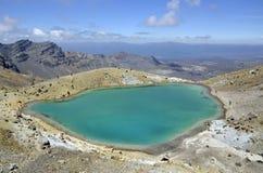Smaragdgroen meer, Nieuw Zeeland Royalty-vrije Stock Foto