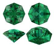 Smaragdgroene acht geïsoleerde sterbesnoeiing Royalty-vrije Stock Afbeeldingen