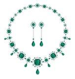 Smaragdgroene juwelen Stock Afbeelding