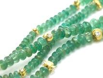 Smaragdgroene ketting royalty-vrije stock afbeeldingen