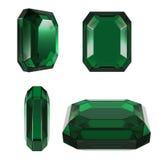 Smaragdgroene klassieke besnoeiing Stock Afbeeldingen