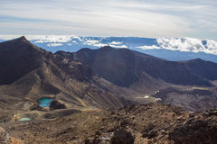 Smaragdgroene meren van de alpiene kruising van Tongariro Stock Fotografie