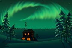 Smaragdgroene nacht Stock Afbeeldingen