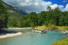 Smaragdgroene rivier Royalty-vrije Stock Fotografie