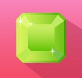 Smaragdgroene vector, juwelen vectorillustratie Stock Afbeelding