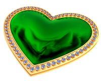 Smaragdhjärtasmycken Royaltyfri Fotografi