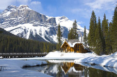 Smaragdsee, kanadische Rockies Stockfotos