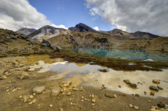 Smaragdseelandschaft, Nationalpark Tongariro stockfoto