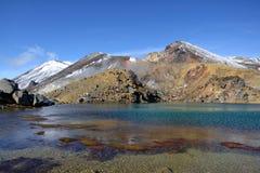 Smaragdseen, Tongariro Nationalpark lizenzfreie stockfotos