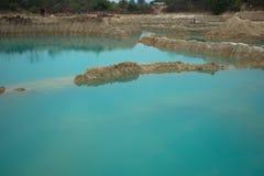 Smaragdvatten, pöl, damm, plash royaltyfri foto