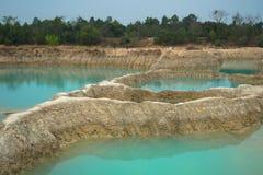 Smaragdwasser, Pool, Teich, Plash Lizenzfreie Stockbilder