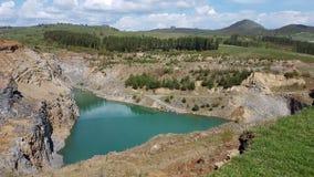 Smarald sjö Rumänien Arkivfoton