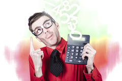 Smart accountant showing income tax return growth Stock Photos