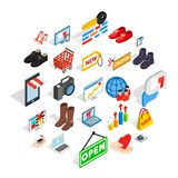 Smart Advertising Icons Set, Isometric Style Stock Photo
